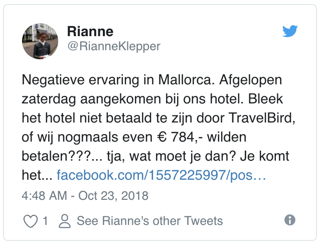 Travelbird Twitter Problem