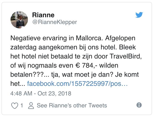 Travelbird Twitter Problem