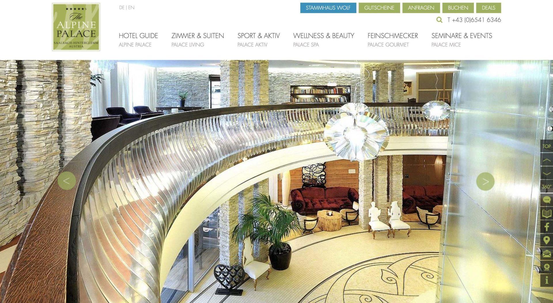 Alpine Palace Partnerprogramm Website