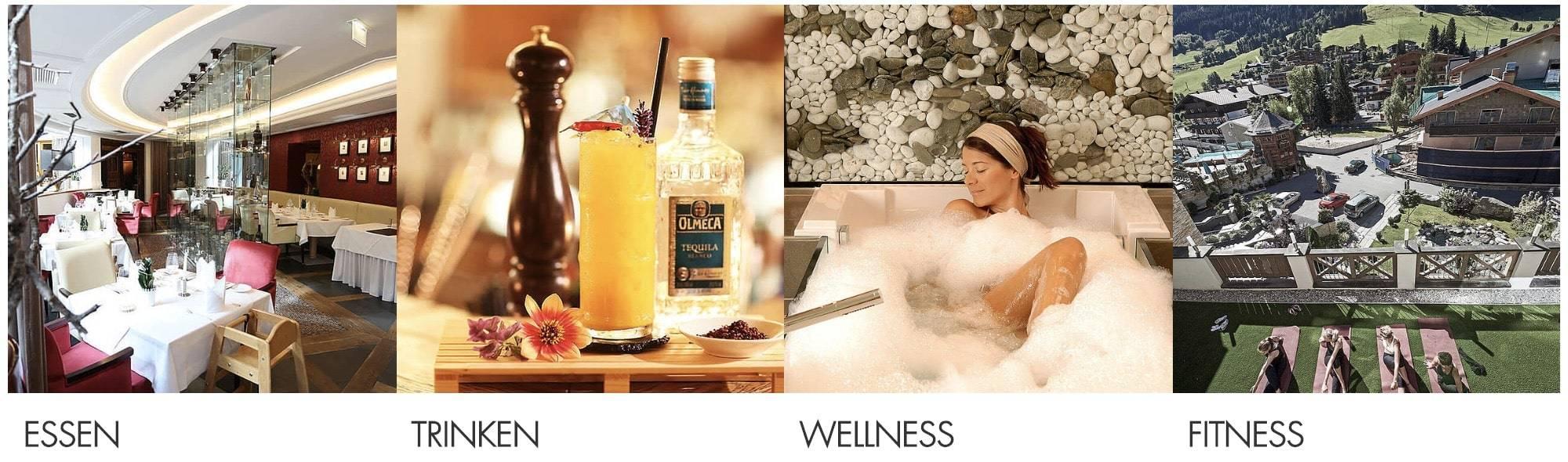 Hotel Wolf Partnerprogramm Wellness Fitness Essen Trinken