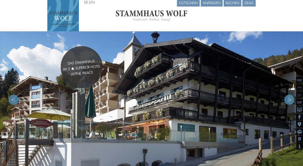 Hotel Wolf Partnerprogramm Website ANsicht