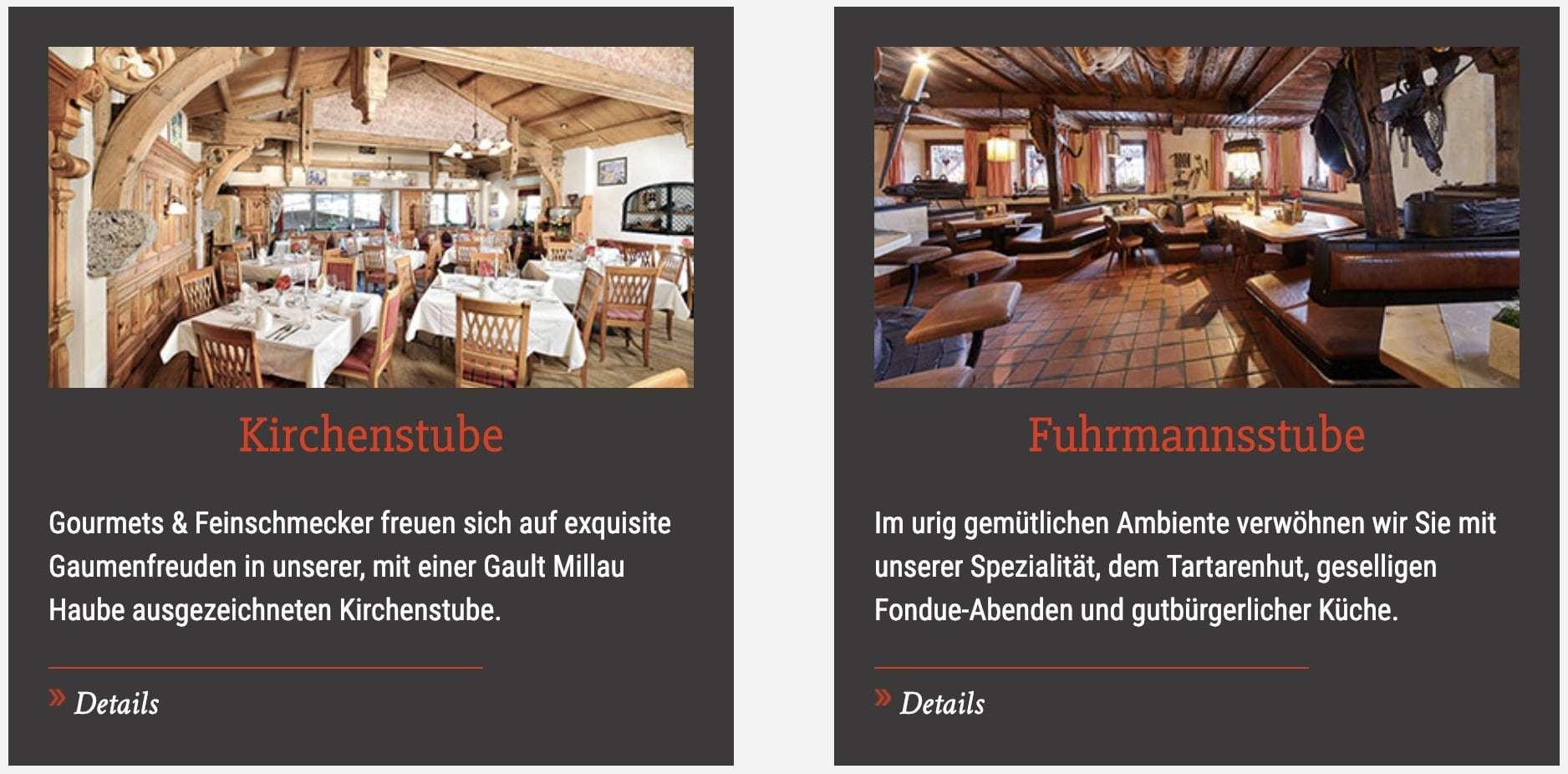 Hotel Zur Dorfschmiede Partnerprogramm Restaurantangbebot