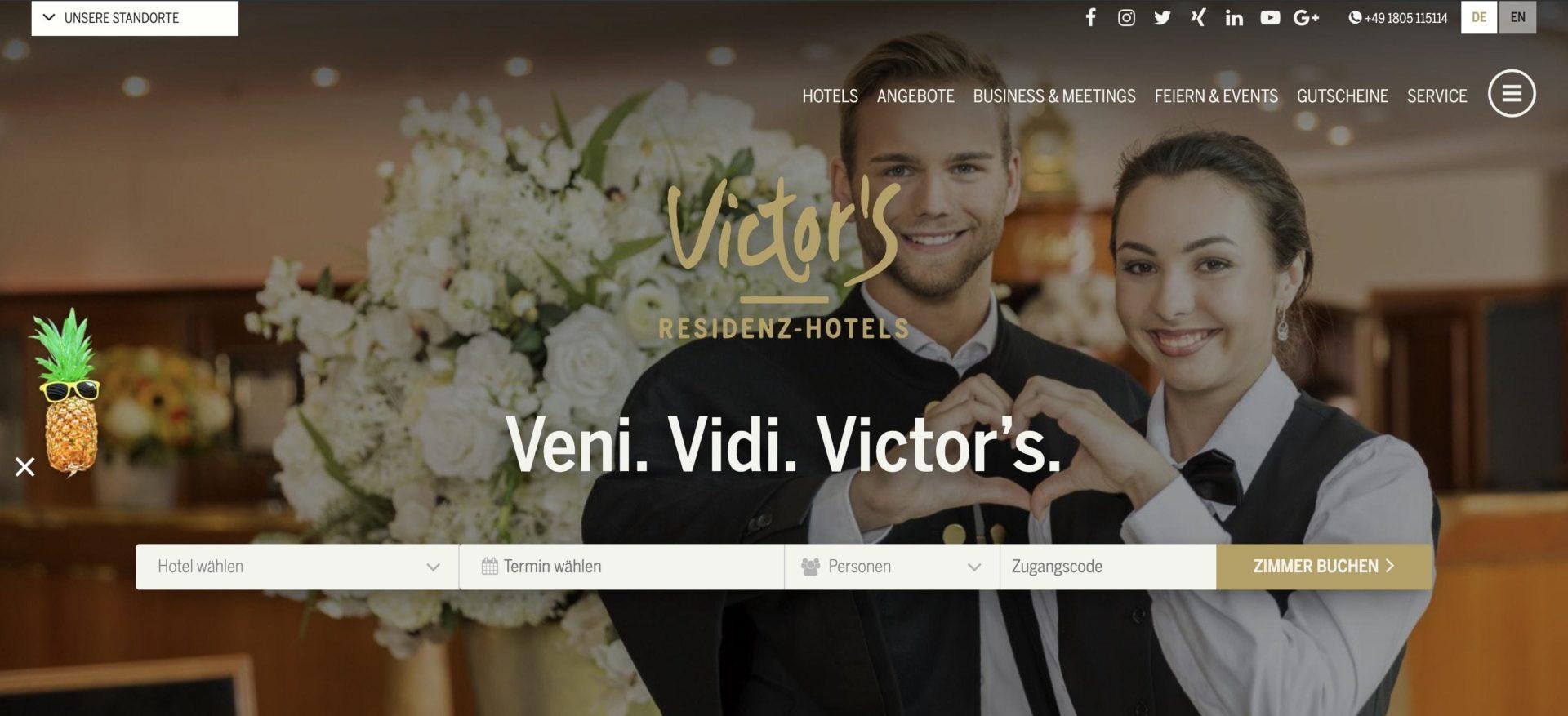 Victors Residenz Partnerprogramm Website