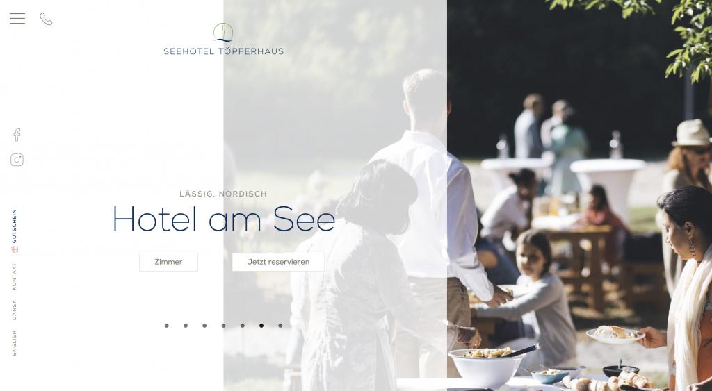 Seehotel Töpferhaus Partnerprogramm Vorschau Webseite
